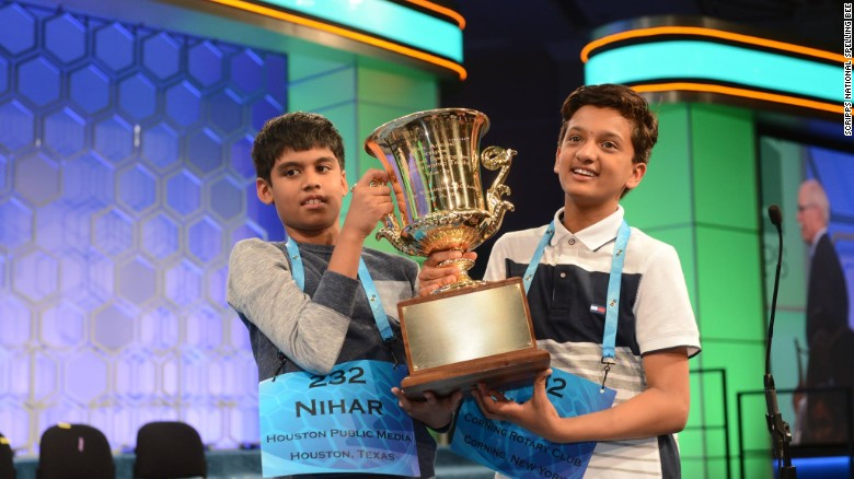 Two champions in National Spelling Bee