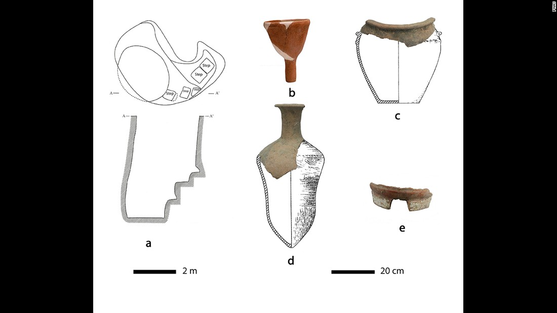 Researchers offered an idea of how the intact pottery pieces could have looked.