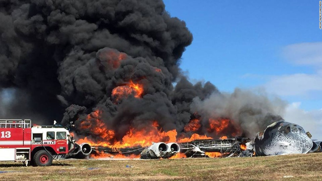 "A B-52 burns after <a href=""http://www.cnn.com/2016/05/18/us/guam-b52-crash/index.html"" target=""_blank"">crashing during a training mission</a> in Guam on Thursday, May 18. All seven crew members were safe, according to Andersen Air Force Base, and the crash was under investigation."