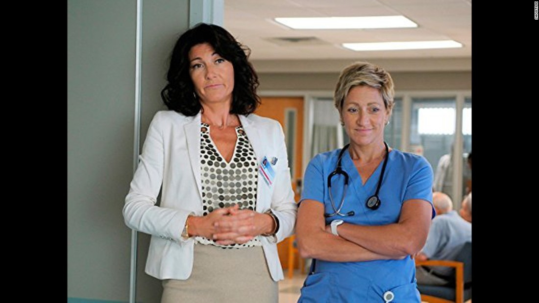 "Edie Falco, right, was both brilliant and bad in ""Nurse Jackie."""