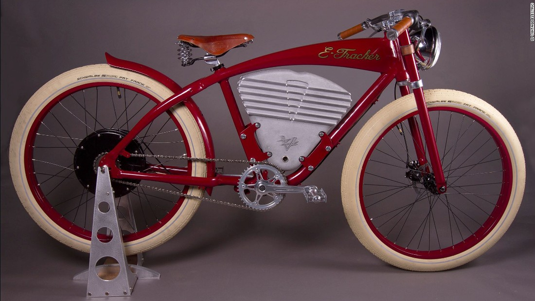 "California-based Vintage Electric have two models of e-bike currently -- the ""Tracker"" (pictured) and the ""Cruz."""