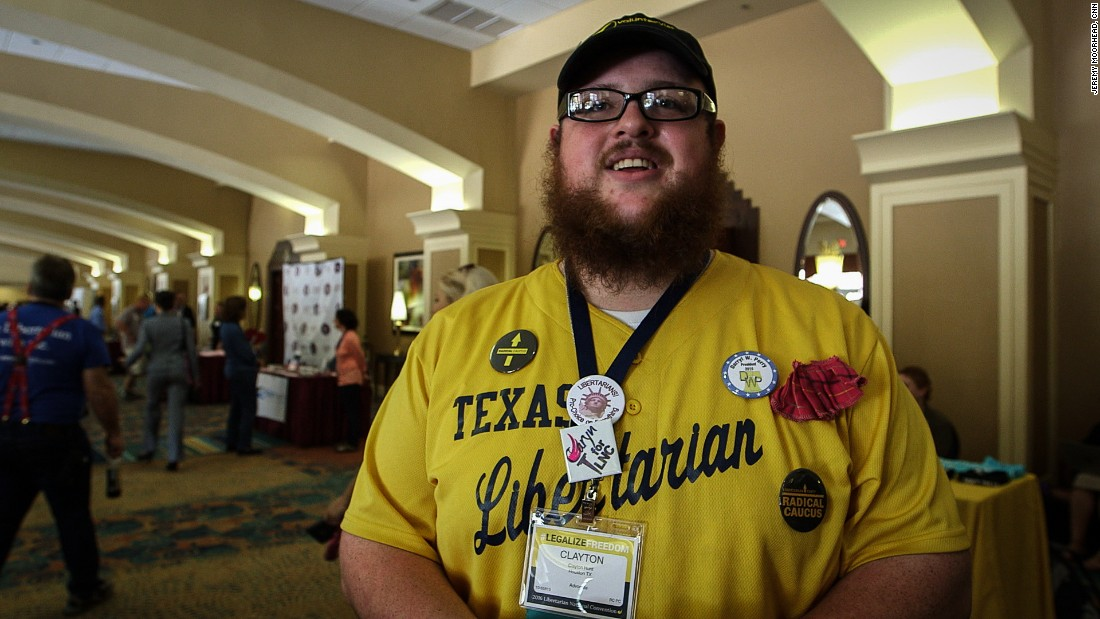 "Clayton Hunt, a Libertarian from Texas, said he cares about preserving gun rights, establishing an open border policy and ending the war on drugs. ""I can't stand Donald Trump,"" Hunt said. ""He's basically everything we are not."""