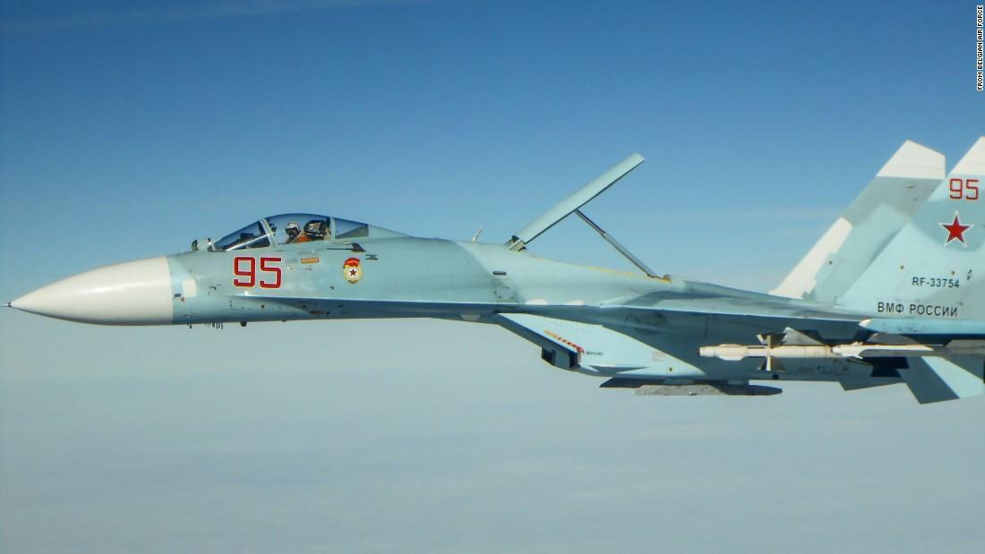 A Russian Su-27 Flanker