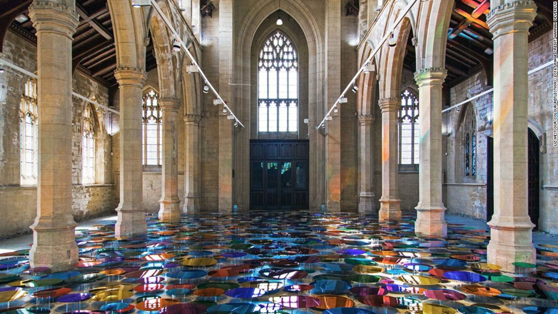 Artist Liz West has turned this former church into a psychedelic art installation.