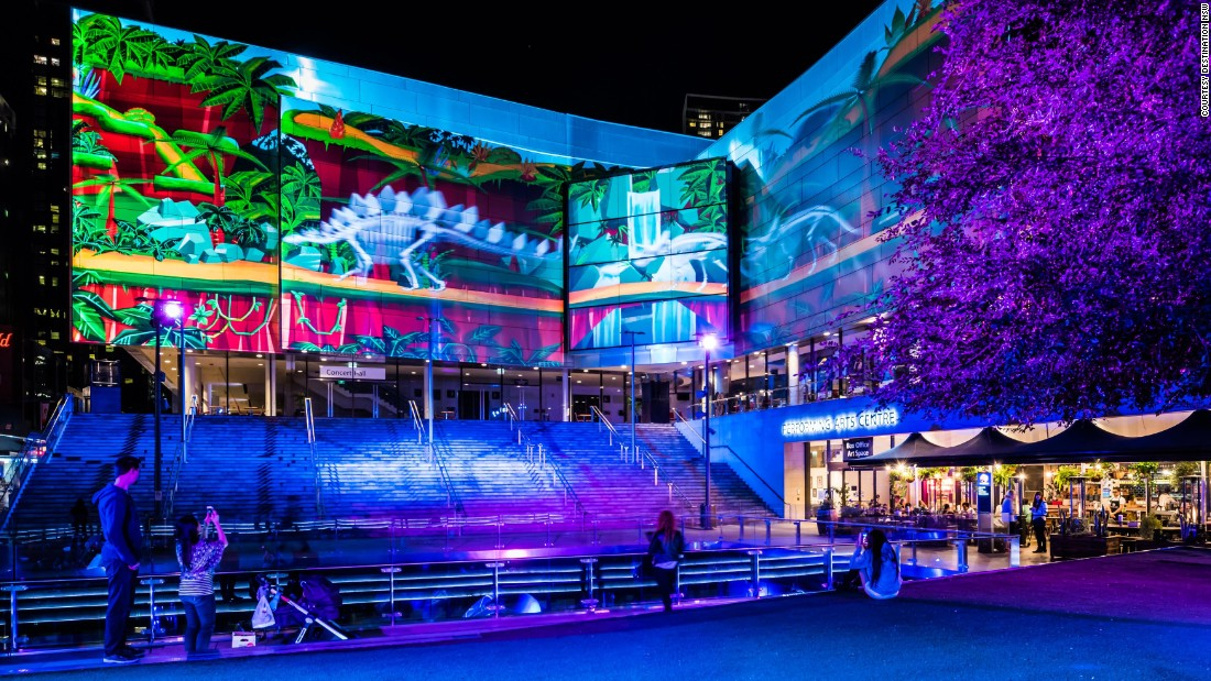 The dizzying, immersive light show at The Concourse, Chatswood explores creatures from the ancient supercontinent, Gondwana.