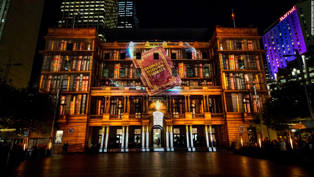 Customs House is another piece of iconic Sydney architecture lit up for the festival.