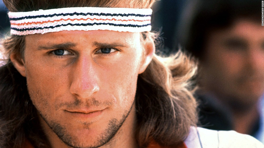 As famous for his model looks and trademark headband as his tennis, Borg became a pinup for legions of fans.