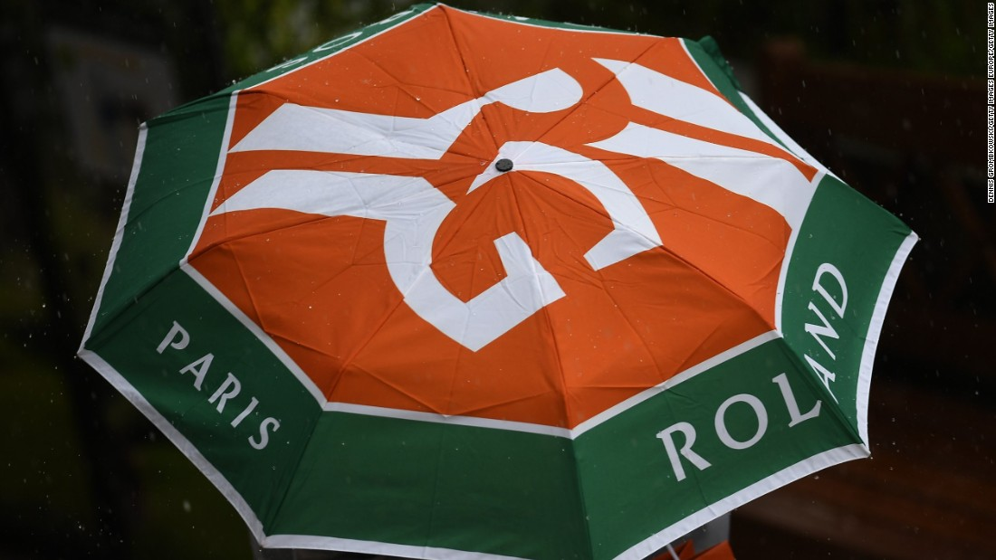 Officials were forced to cancel play due to rain at Roland Garros Monday before a single ball was hit.