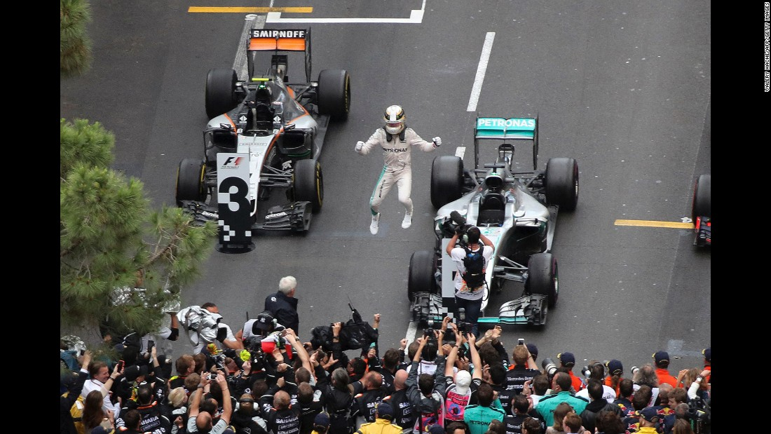 "Formula One driver Lewis Hamilton celebrates after winning the <a href=""http://www.cnn.com/2016/05/29/motorsport/monaco-grand-prix-lewis-hamilton-wins-daniel-ricciardo-nico-rosberg-formula-one/index.html"" target=""_blank"">Monaco Grand Prix</a> on Sunday, May 29. It was the first victory of the season for Hamilton, who won the F1 championship in 2014 and 2015."