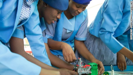 A female telecoms engineer in Nigeria is defying Boko Haram in the region, by encouraging girls not only to stick with education but to pursue careers in science and technology.