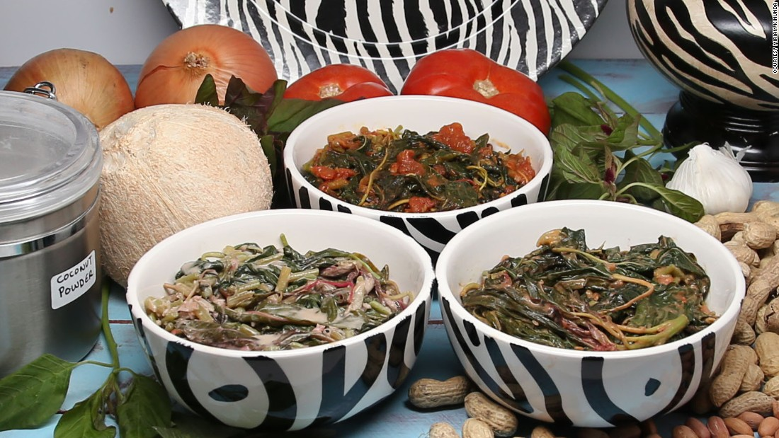 "Miriam Kinunda makes dishes with local ingredients such as these Amaranth leaves. She shares the recipes <a href=""https://miriamkinunda.com/"" target=""_blank"">on her website</a>, her <a href=""https://www.youtube.com/channel/UC3N9GXTvrKYbCNUPux0pb0g"" target=""_blank"">YouTube channel</a> and in her cookbooks."
