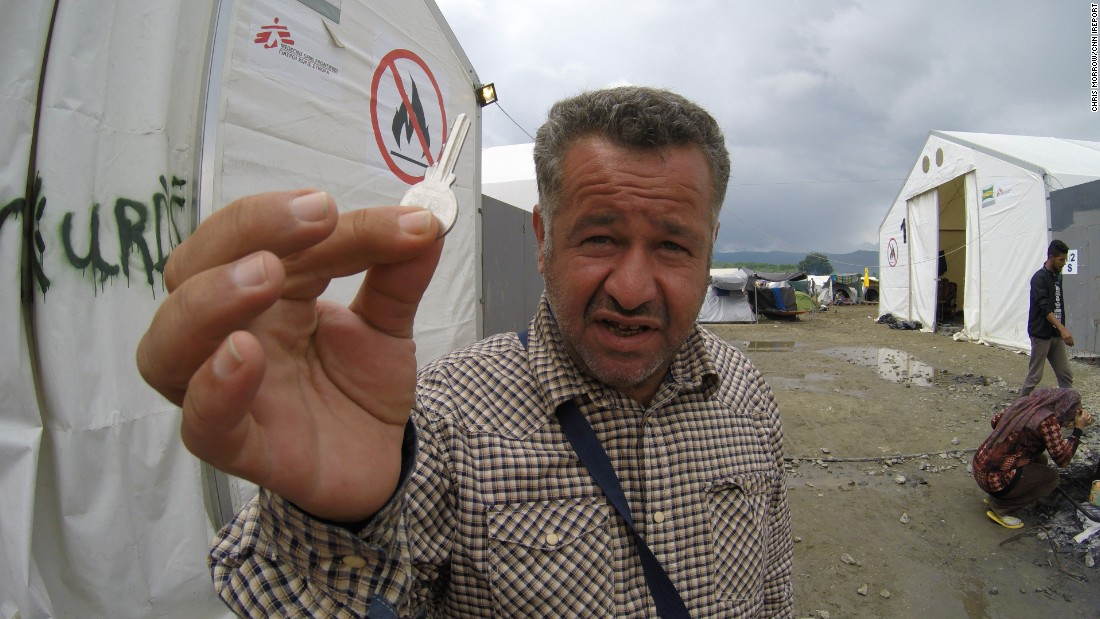 "CNN iReporter <a href=""http://ireport.cnn.com/people/ChrisMorrow"">Chris Morrow</a> spent a week in May at the Idomeni refugee camp in Greece and asked refugees what item from home they couldn't live without. Muhammad, from war-torn Deir Izzor, carries his house key. Being a refugee doesn't define him, which is what he says the key represents."