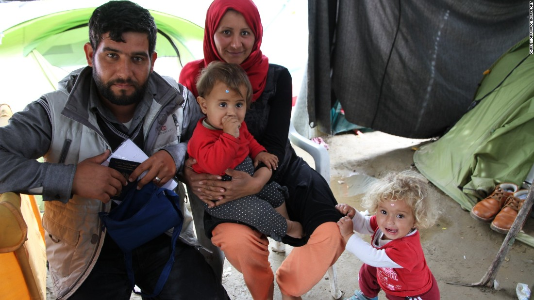 Family is Mohammed's most cherished thing. He traveled to the camp with his wife and two small children.