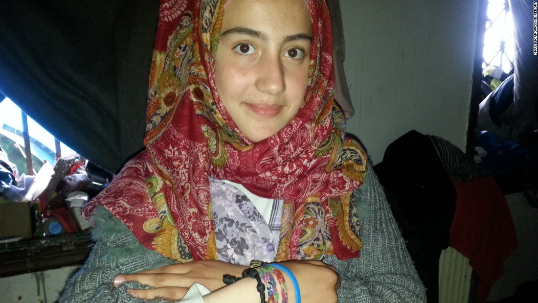 Friendship bracelets are important to Rana, who came to the camp from Palmyra.