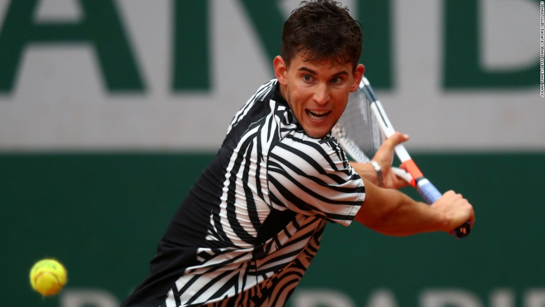 Dominic Thiem's match against Marcel Granollers is locked at one set-all with the No. 13 seed taking the first set 6-2, before his Spanish opponent claimed the second on a tiebreak and the inevitable deluge ensued to bring the match to a halt. Play was canceled at about 7 p.m. local time.