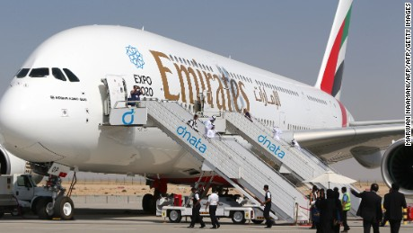 A Chinese teen reportedly sneaked into the cargo hold of an Emirates A380 prior to a Shanghai to Dubai flight. (File photo.)