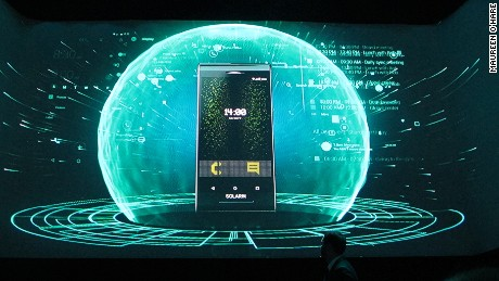 Solarin Android smart phone press conference London