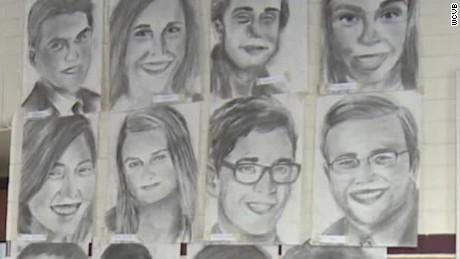 high school senior draws portraits of entire class pkg_00010428