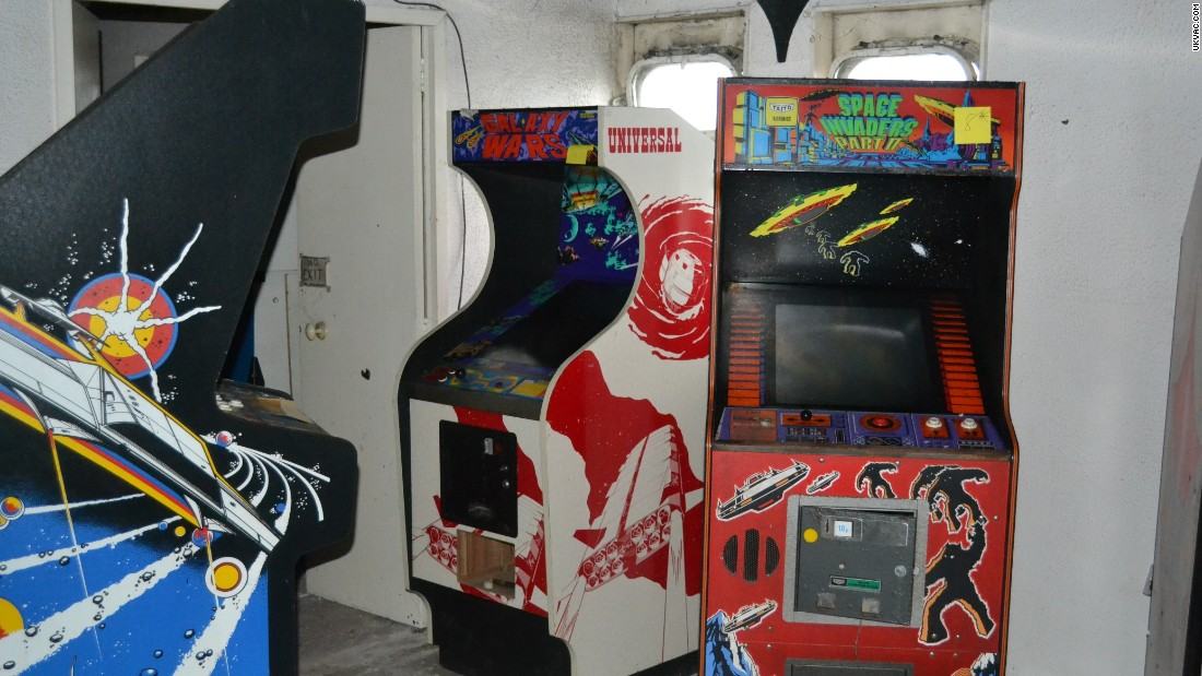 "Galaxy Wars and Space Invaders Part II machines jostle for space.  ""It was great to see Space Invaders again"", Oliver Moazzezi told CNN."