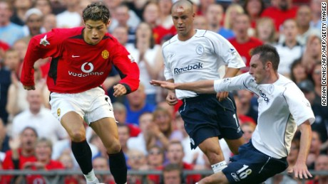 Ronaldo made his United debut in a 4-0 win over Bolton in 2003.