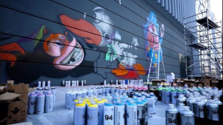 An unlikely outlet for creating street art