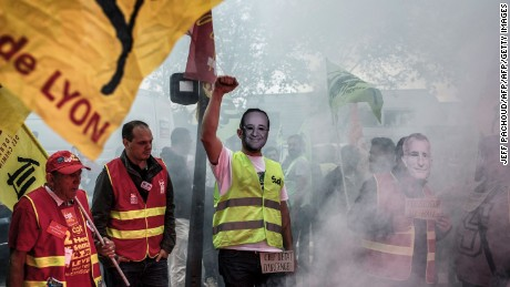 Union opposition helped defeat former President François Hollande's attempt to change labor law last year.