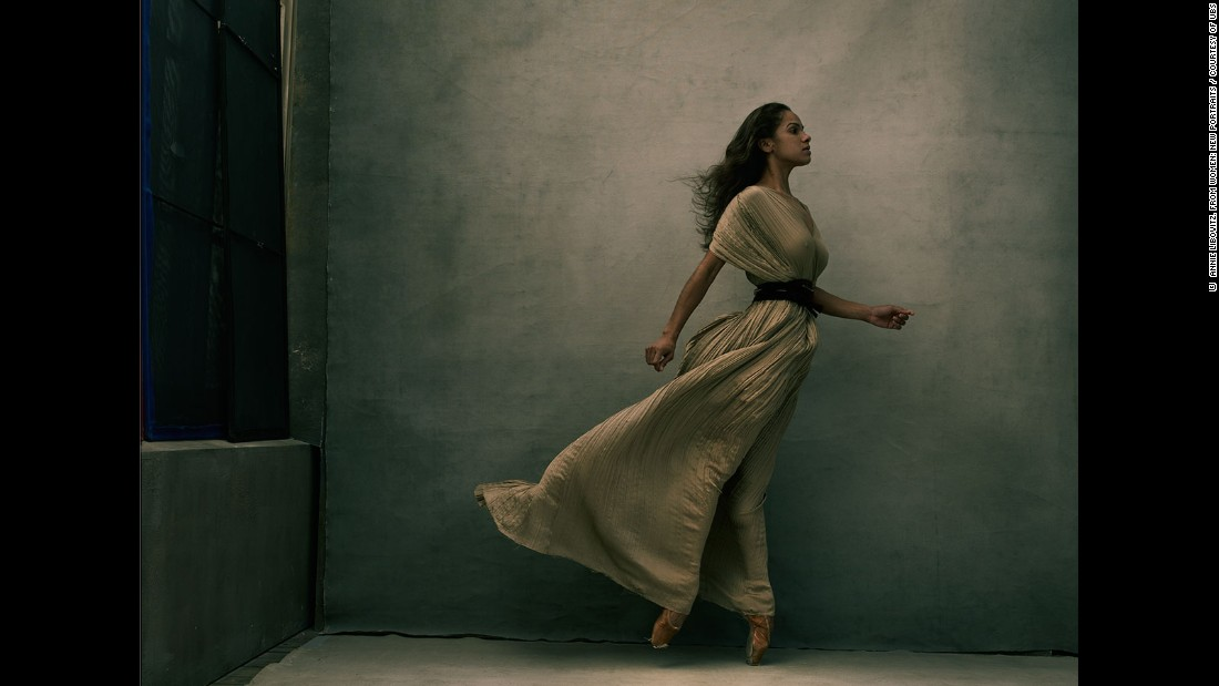Photographer Annie Leibovitz is taking her acclaimed 'WOMEN' exhibition to ten cities around the world, in partnership with UBS. Her latest work features a series of 'New Portraits' of people she believes embody the changing roles of women today. One of those is the first African-American female principal dancer with the American Ballet Theatre, Misty Copeland.