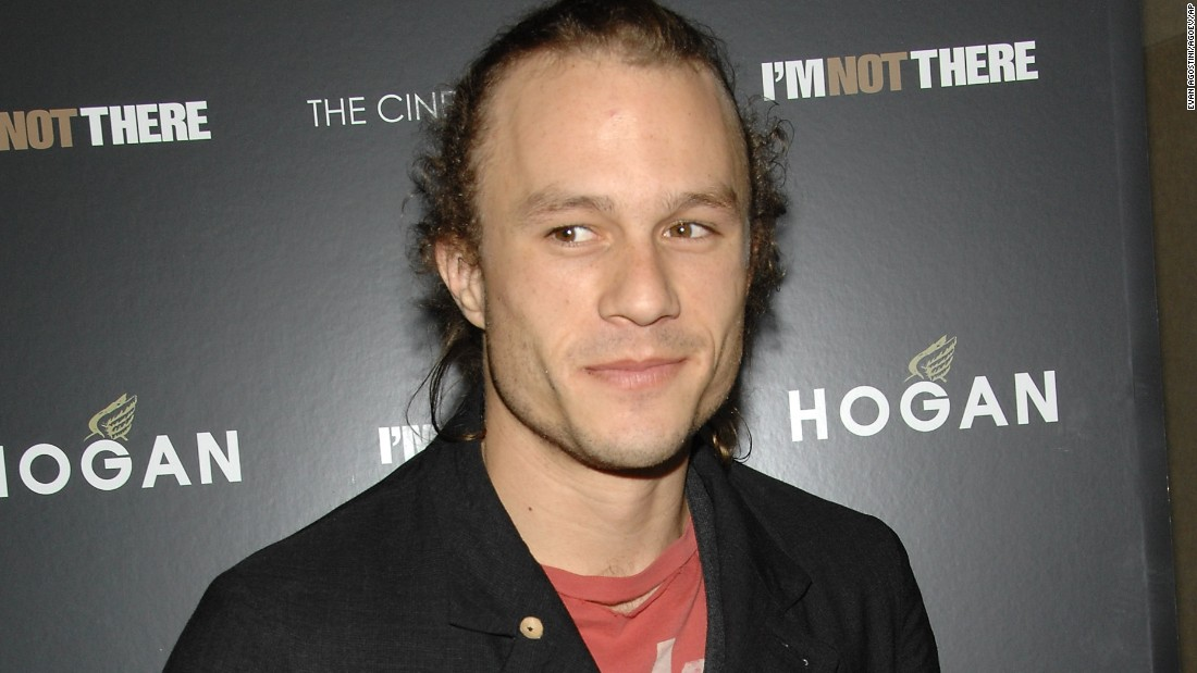 "Australian actor Heath Ledger, star of ""A Knight's Tale,"" ""Brokeback Mountain"" and the Batman sequel ""The Dark Knight,"" died in 2008 of a <a href=""http://www.cnn.com/2008/SHOWBIZ/Movies/02/06/heath.ledger/"">prescription drug overdose</a>. He was 28. Opiates such as oxycodone (OxyContin) and hydrocodone (Vicodin) were found in his system, along with alprazolam (Xanax), diazepam (Valium) and two insomnia drugs."