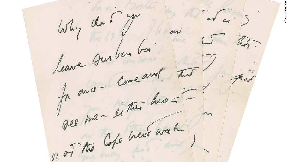 Jfk'S Love Letter To His Mistress Is Up For Sale - Cnn