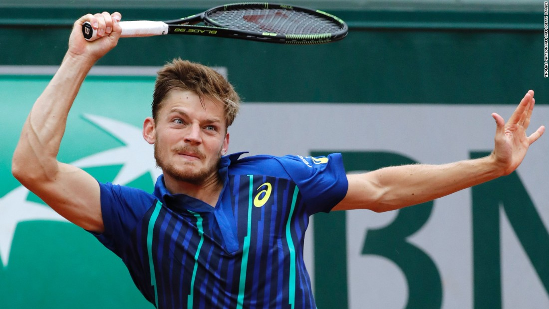 Goffin, seeded 12th in Paris, helped Belgium reach the 2015 Davis Cup final but before this week had never gone past the fourth round at a grand slam.