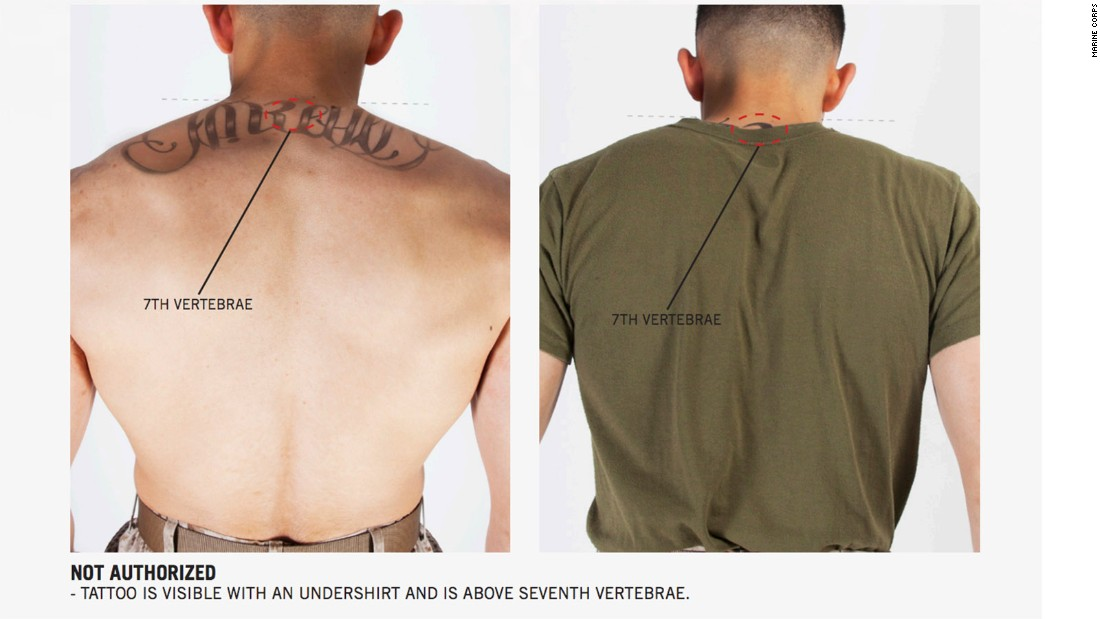 Marines ink new tattoo rules cnnpolitics for Marine corp tattoo policy