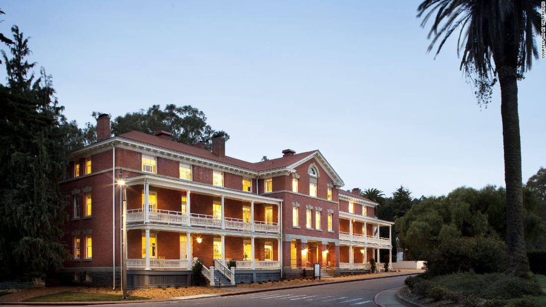 Although the Inn at the Presidio opened in 2013, it was built in 1903 and served as bachelors' quarters for unmarried U.S. Army officers for many years.