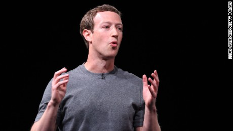 Mark Zuckerberg speaks at a press conference presenting Samsung's new Galaxy 7 mobile device on February 21, 2016 -- the eve of the Mobile World Congress in Barcelona.