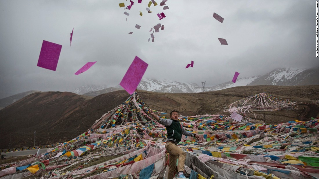 On Saka Dawa, the holiest day of the year for Tibetan Buddhists, most take a break from harvesting.
