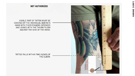 Marines ink new tattoo rules