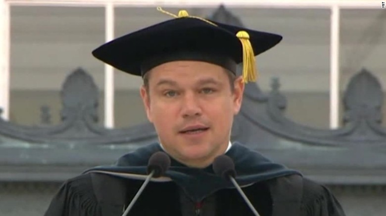 Matt Damon rips Trump and bankers in MIT speech