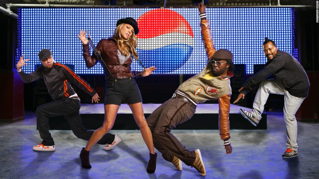 Taboo, Fergie, will.i.am and apl.de.ap of the Black Eyed Peas signed an international partnership with Pepsi. Will.i.am also signed with Doritos, Coca-Cola and Dr Pepper.