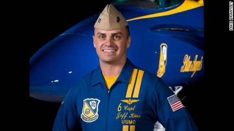 Marine Capt. Jeff Kuss was killed in a Blue Angels plane crash
