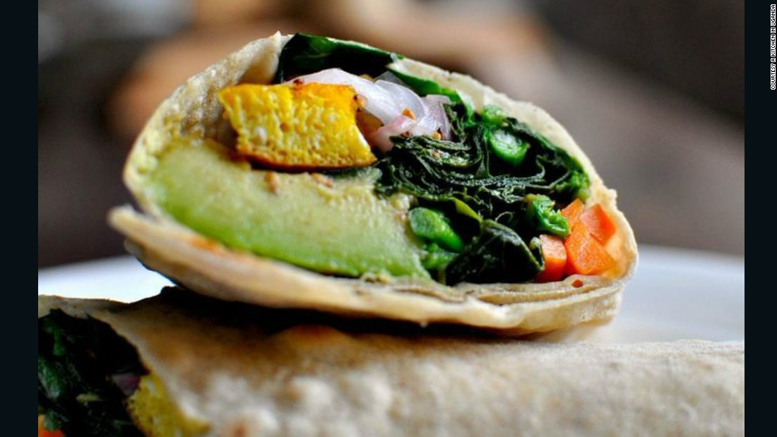 "The Rolex, a rolled chapati containing a fried egg and vegetables, is wildly popular in Uganda, but little known outside the country. ""Rolex is popular because it is a cheap filling meal that can be found on almost every street,"" says <a href=""https://akitcheninuganda.com/"" target=""_blank"">Ugandan food blogger Sophie Musoki</a>."