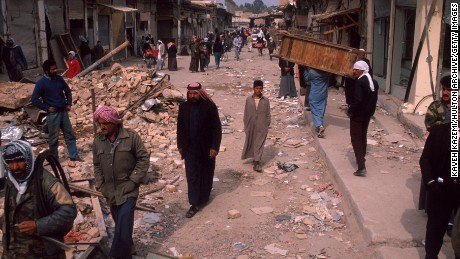 A British plane mistakenly bombed a market in Falluja during the Gulf War in 1991.