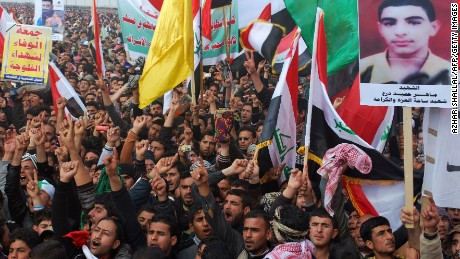 Sunni disenfranchisement led to massive anti-governent protests in Falluja in 2013.