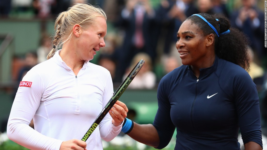 On the women's side of the tournament, Serena Williams will have the chance to defend her title after beating unseeded Dutchwoman Kiki Bertens 7-6 (9-7) 6-4.