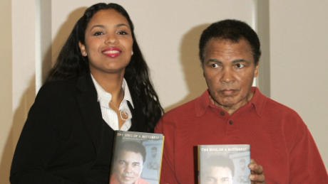 Muhammad Ali's daughter breaks down