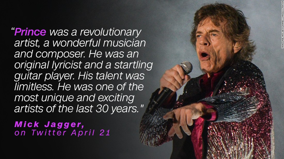 "Mick Jagger mourned the loss of a ""revolutionary artist."""