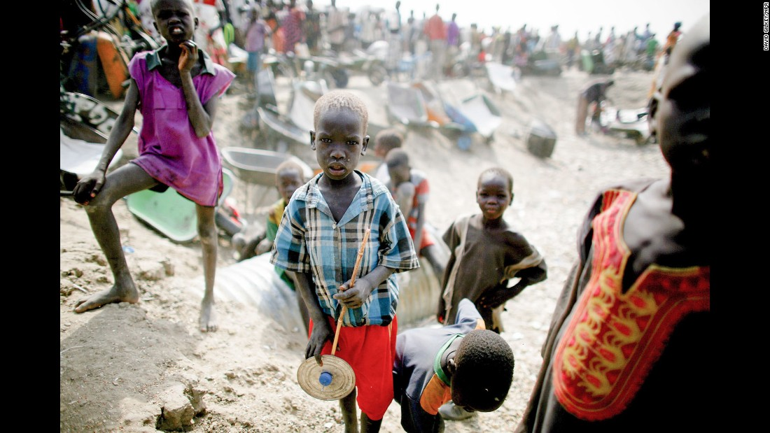 "A boy holds a toy in Bentiu, South Sudan, in May. More than 120,000 South Sudanese <a href=""http://www.npr.org/sections/goatsandsoda/2016/05/25/478251493/five-days-and-five-nights-with-doctors-without-borders"" target=""_blank"">have sought refuge</a> inside this U.N. compound."
