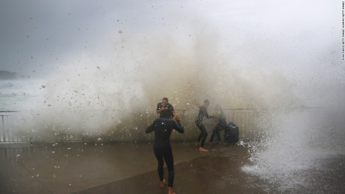 The storm quickly swept through a huge area of Australia's east coast, from the very north of New South Wales down through the south of the country.