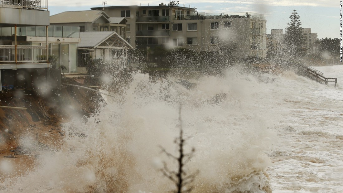 A number of multi-million dollar homes on Sydney's Collaroy Beach had to be evacuated and many are now close to collapse.