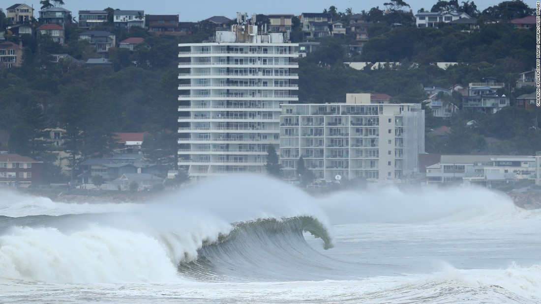 The storm has now moved down through Victoria and onto Tasmania, where it is causing record flood levels.