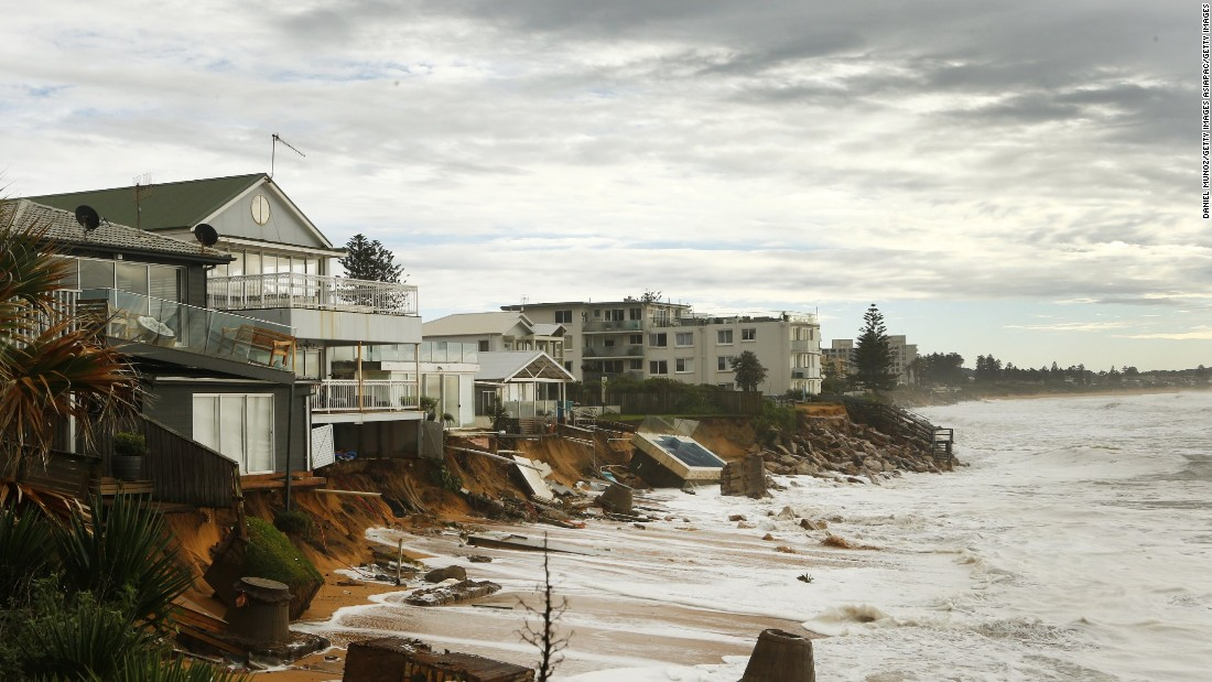 The storm coincided with a king tide, causing extensive erosion on Sydney's northern beaches.