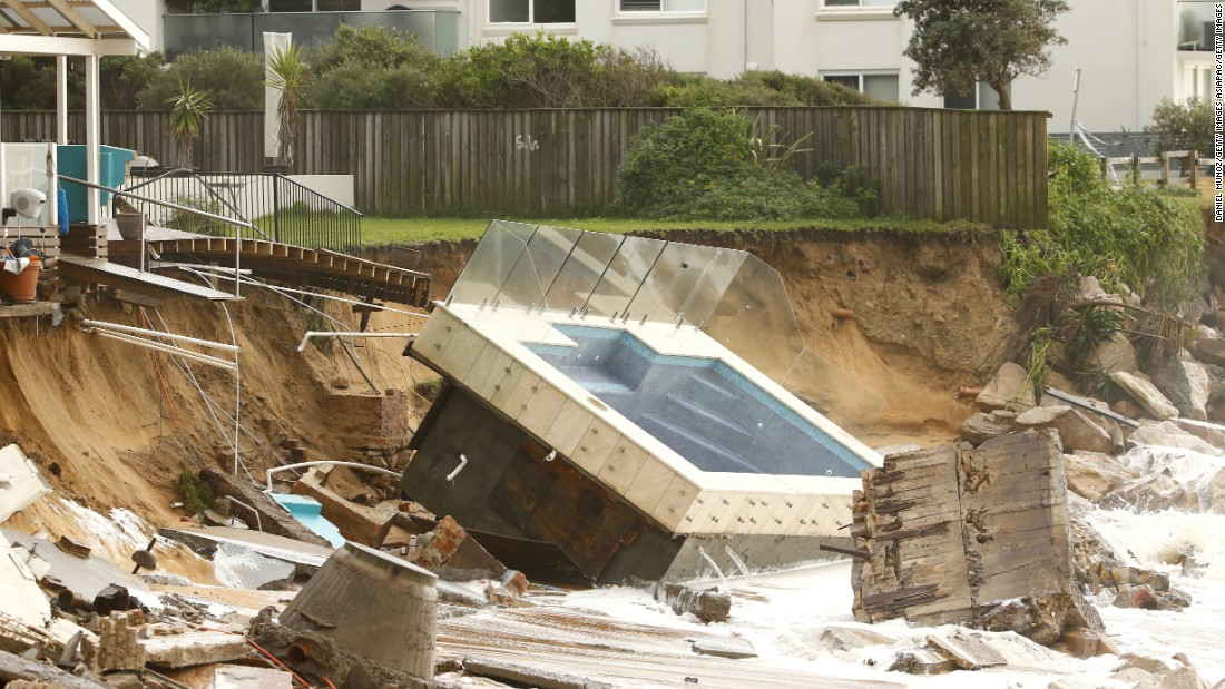 Huge storms battered the east coast of Australia on the weekend, causing widespread flooding and power outages.